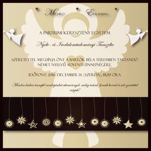 2016 Adventsfest Einladung