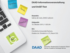 Eveniment de informare DAAD în limba germană și test OnSET